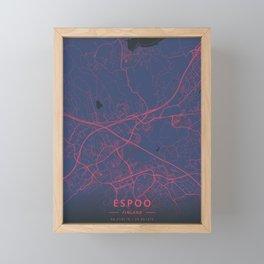 Espoo, Finland - Neon Framed Mini Art Print