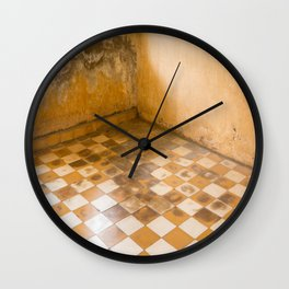 S21 Blood Stains - KhmerRouge, Cambodia Wall Clock