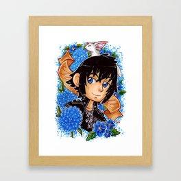 Noctis in blue Framed Art Print