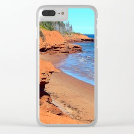 Red Cliffs of PEI Clear iPhone Case