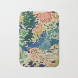 Landscape at Collioure - Henri Matisse - Exhibition Poster Bath Mat