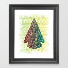 Neon Arrowhead Framed Art Print