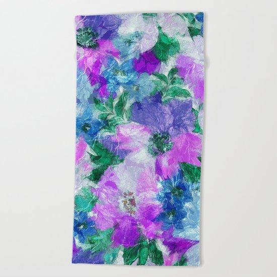 Splendid Flowers 3 Beach Towel
