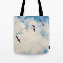 Flying Over Seas Tote Bag