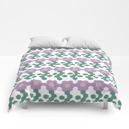 Fun with hexagons - Flower edition Comforters