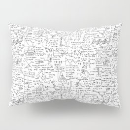 Physics Equations on Whiteboard Pillow Sham