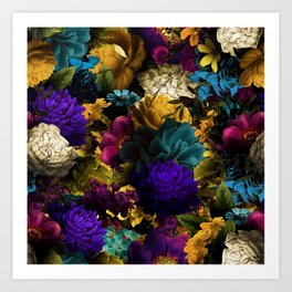 melancholy flowers big seamless pattern 01 Kunstdrucke