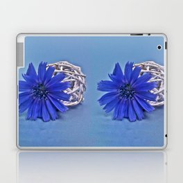 Still life with chicory flower Laptop & iPad Skin