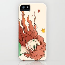 autumn girl iPhone Case