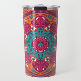 Colorful Mandala Pattern 017 Travel Mug