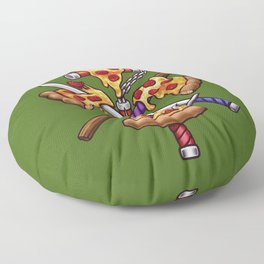Ninja Pizza Floor Pillow