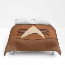st original badge of cherry wood sci-fi Comforters