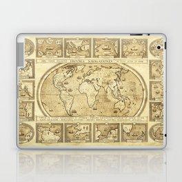 Vintage map of the World Laptop & iPad Skin