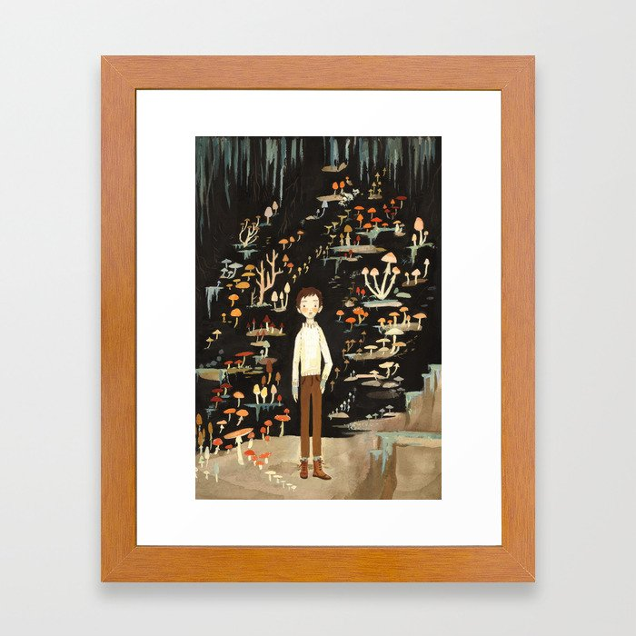 Ivo & His Mushrooms Framed Art Print