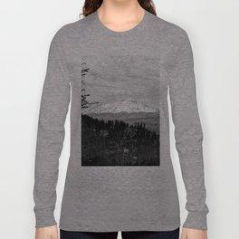 Mount Shasta, and neighboring mountain Shastina, Siskiyou County, ca.1900-1940 Long Sleeve T-shirt