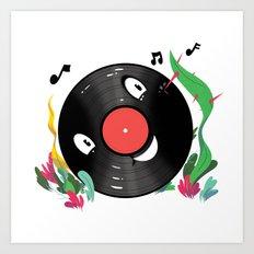 Vinyl Guy Art Print