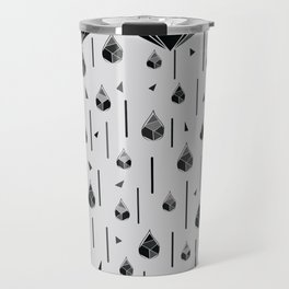 Geometric rain Travel Mug