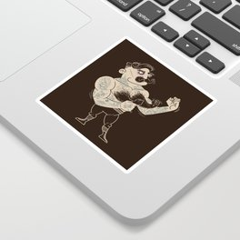 Overly manly man Sticker