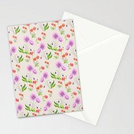 Poppy Pattern Neutral Stationery Cards