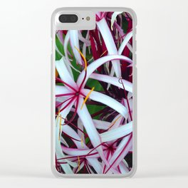 Spider Lilies Clear iPhone Case
