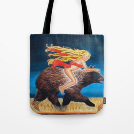 Bear Rider Tote Bag
