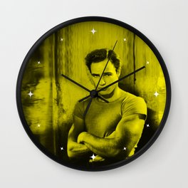 Marlon Brando - Celebrity (Florescent Color Technique) Wall Clock