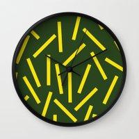 fries Wall Clocks featuring Fries by Alberto Antoniazzi