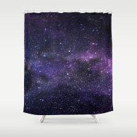 cosmic Shower Curtains featuring Cosmic by Marta Olga Klara