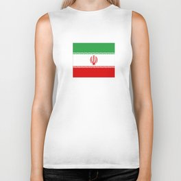 flag of iran- Persia, Iranian,persian, Tehran,Mashhad,Zoroaster. Biker Tank