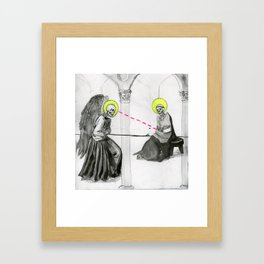 The UNHOLY Annunciation  Framed Art Print