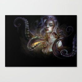 Unfortunate souls - Ursula octopus Canvas Print