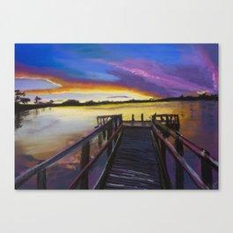 Shelley Bridge Sunset Canvas Print