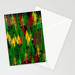 autumn fir forest Stationery Cards