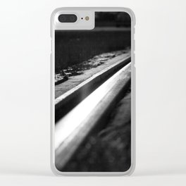 Abstract view on the railroad Clear iPhone Case