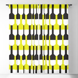 Geometric Pattern 253 (yellow and black bottles) Blackout Curtain