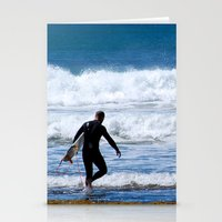 surfer Stationery Cards featuring Surfer by JohnJohn22