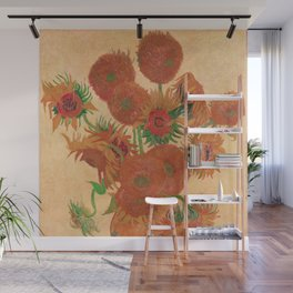 Vase with Fourteen Sunflowers by Vincent van Gogh Wall Mural