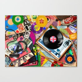Viva le Vinyl Canvas Print