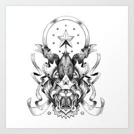 Heraldic Art Print