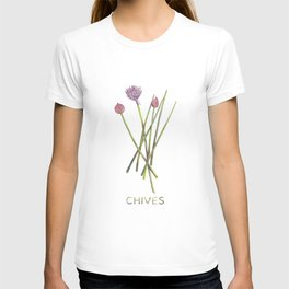 Watercolor Chives Illustration T-shirt