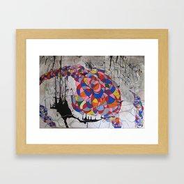 Rainbow vs Tornado Framed Art Print