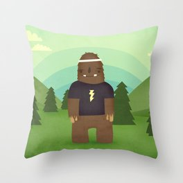 sasquatch  Throw Pillow