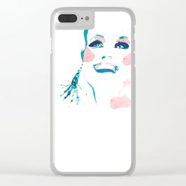 Pretty Fun Thing - Fashion Illustration Clear iPhone Case