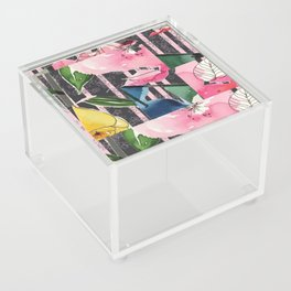 Floral Clash Acrylic Box