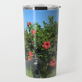 Travel in Greece on the island of Crete mountains and the sea Travel Mug
