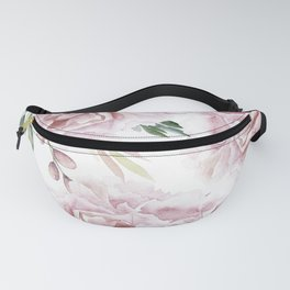 Beautiful Pink Roses Garden Fanny Pack