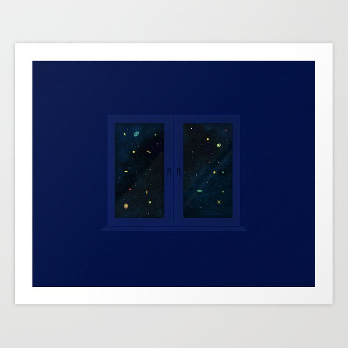 A Window View of Galaxies Art Print
