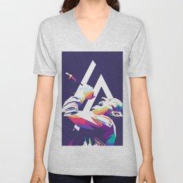 Chester Bennington Pop Art Unisex V-Neck