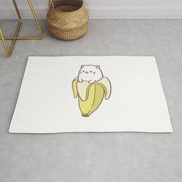 Cat Banana ) Rug
