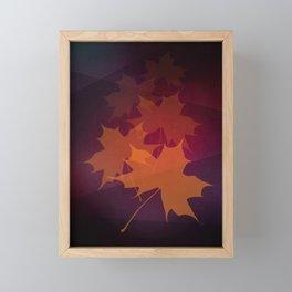 Falling Autumn Framed Mini Art Print